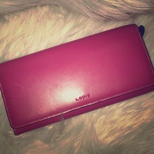 LODIS Pink Leather Wallet